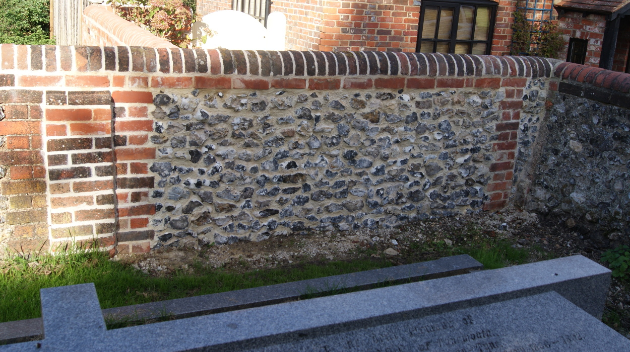 Flint wall 1 - Our Work - Lime Works