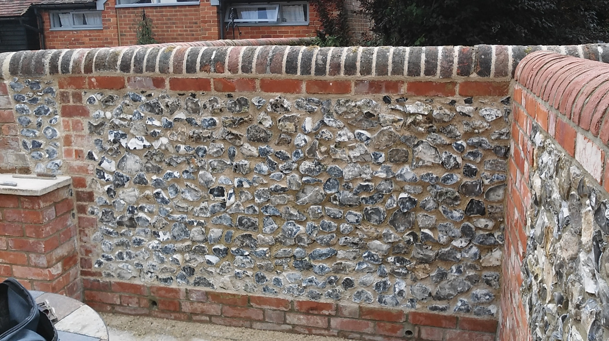 Flint wall 2 - Our Work - Lime Works